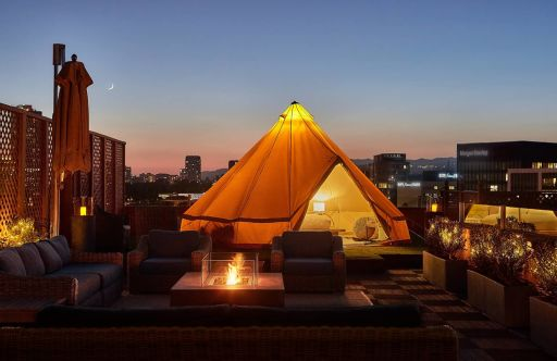 Roof Glamping Atop the Hotel from Pretty Woman