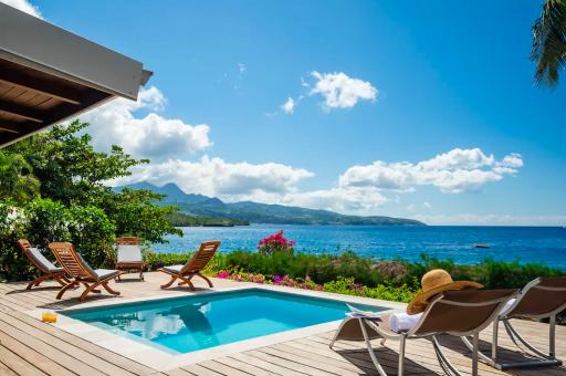 Villa sur la plage en Martinique