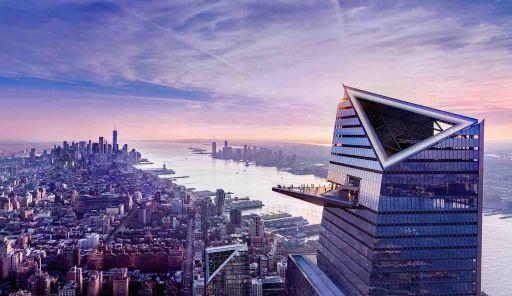 Terrasse en verre au dessus de New York