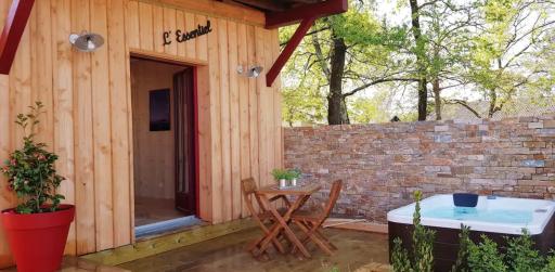 Cabane privée avec jacuzzi à Arcachon