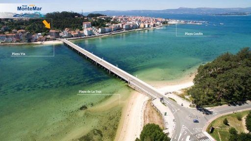 Hotel a pie de playa en Galicia frente a la Isla de la Toja. 7 noches