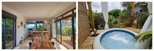 Airbnb avec piscine et jacuzzi à la Réunion