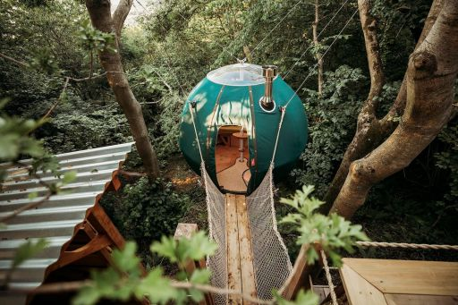 Have you ever slept in a tent suspended high up in the trees? Now you can!