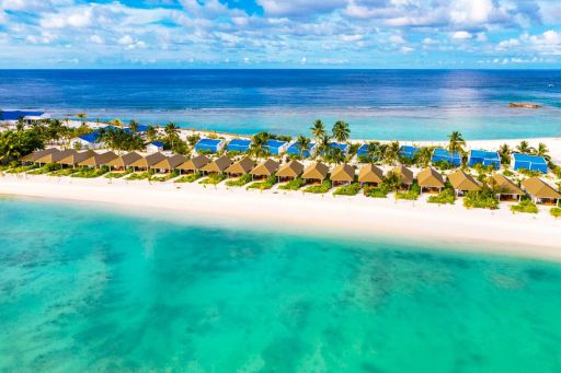 Luxe all-inclusive private Island Maldives holiday with oceanfront beach villa upgrade