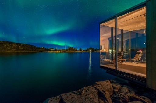 Designerska kabina w Norwegii