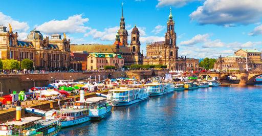 Dresden direkt an der Elbpromenade