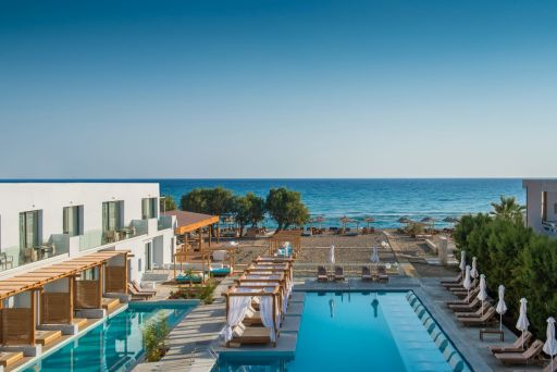 Extrem stylisch, direkt am Strand - 1 Woche auf Kreta mit Halbpension