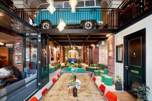 Sleep in a Tram Car, Tiny House, Secret Bookcase, & More at This Quirky Amsterdam Hotel