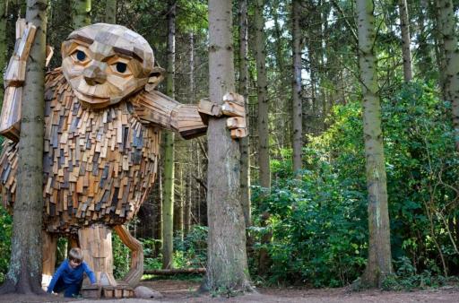 Bajkowy las w Danii, w którym mieszkają trolle!