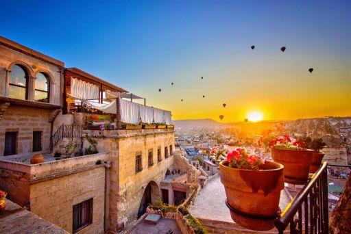 Hôtel avec spa, piscine et vue panoramique en Cappadoce