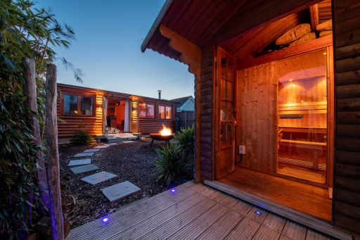 Winter retreat alert: Kent seaside cabin with hot tub and sauna