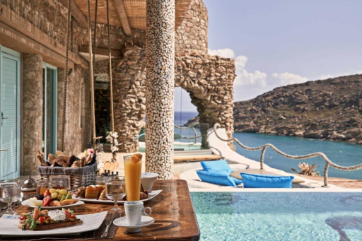 El hotel de lujo más romántico de las Islas Griegas