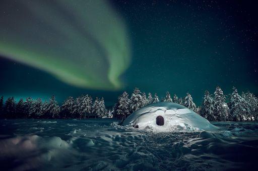 Véritable igloo en Finlande à réserver sur Airbnb