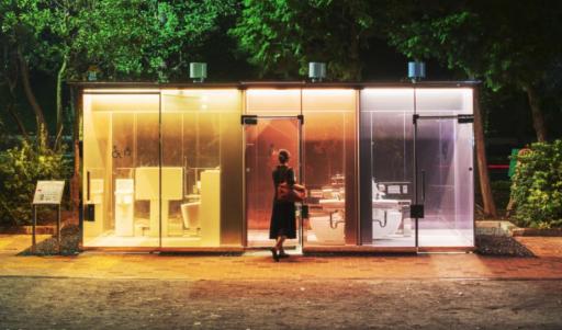 Bagni pubblici di design... Trasparenti!
