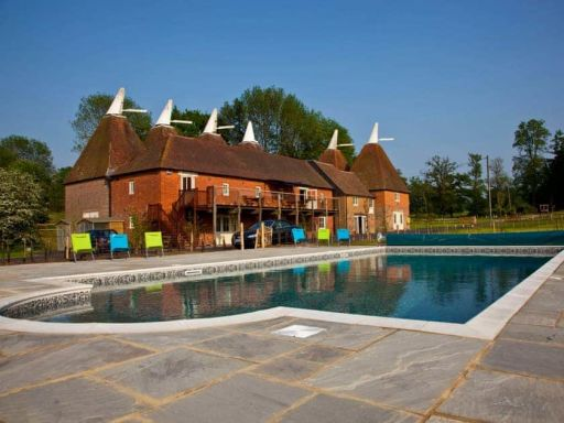 Rent this massive oast house in Kent that sleeps up to 42 people!