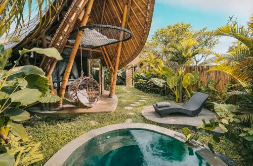 Magnifique maison Bamboo à Bali