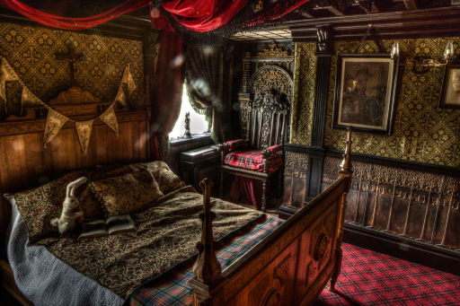 Sleep in the nightmarish bed chamber of a seven-year-old Edwardian child