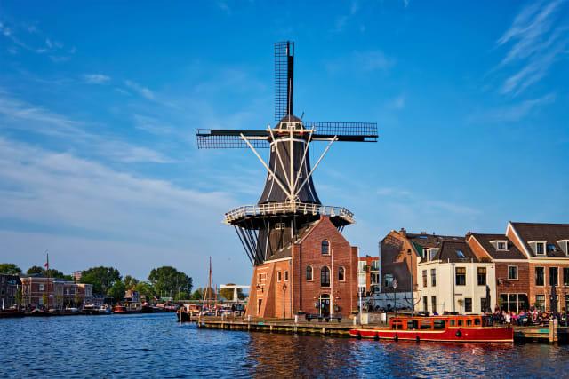 Moulin à vent à Haarlem Pays-Bas