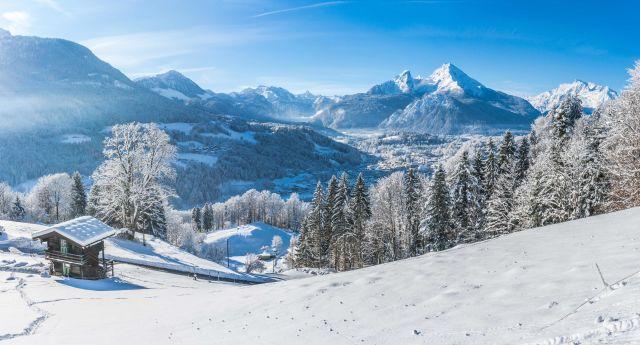 Neige dans les Alpes bavaroises