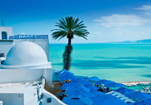 Vue sur une plage et la mer à Tunis