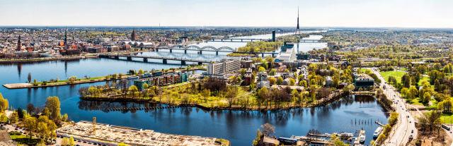 Ausblick über Riga