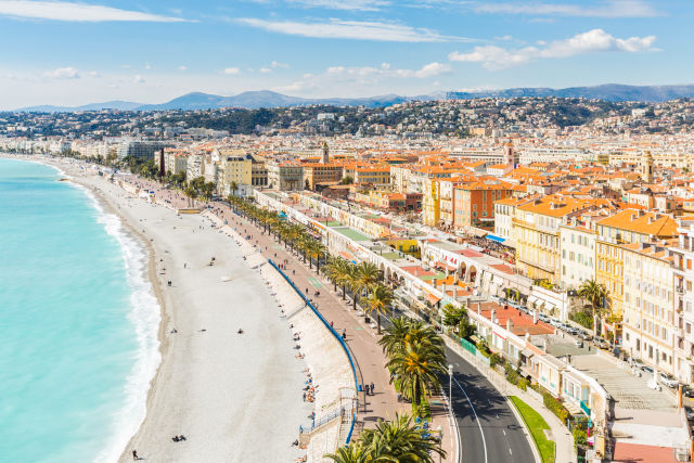Strand von Niza, Cote d'Azure, Frankreich