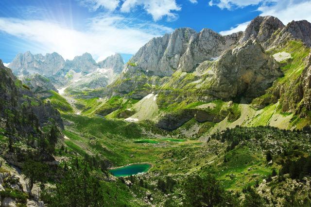 Albanien Berge Gebirge Aussicht