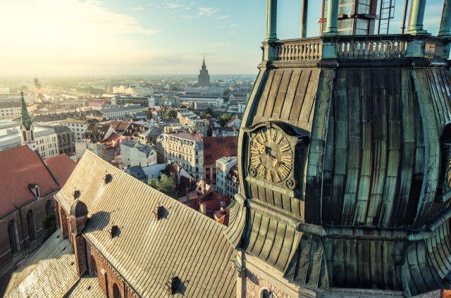 Panorama Aussicht von der Altstadt Riga