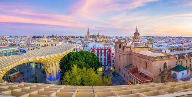 Rundblick von Sevilla
