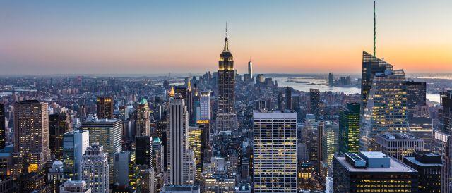 Blick vom Rockefeller Center in New York