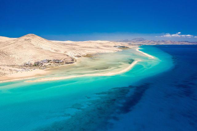 Une plage à Fuerteventura, Îles Canaries