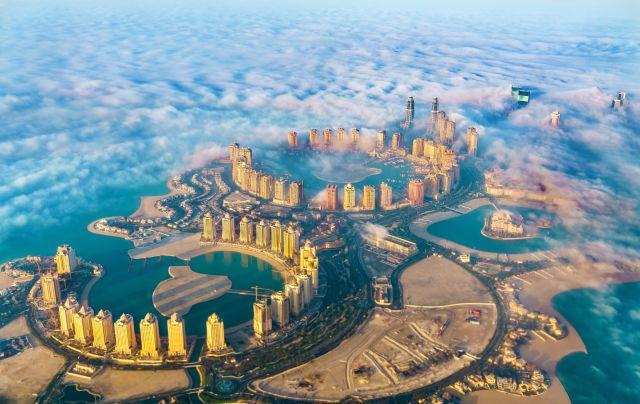Vue aérienne de Doha, Qatar