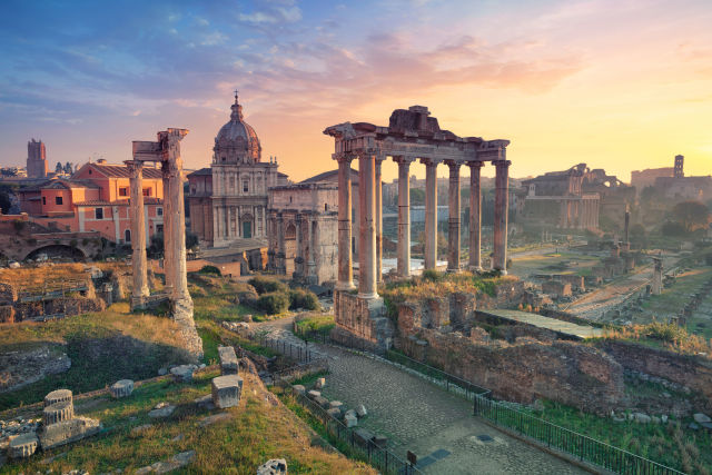 Rom Romanisches Forum Sonnenuntergang Italien
