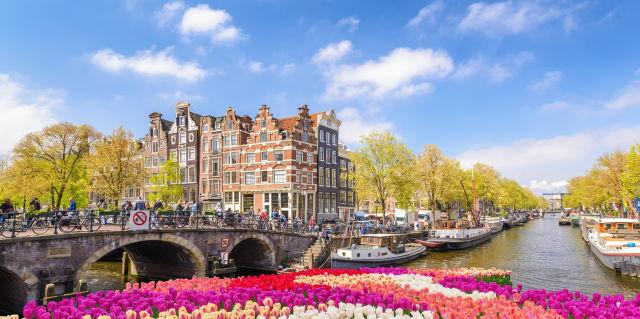 Amsterdam, Boat, Building