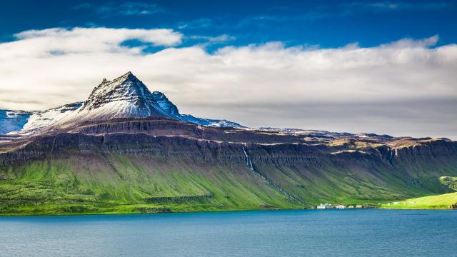 schöne Landschaft in Island