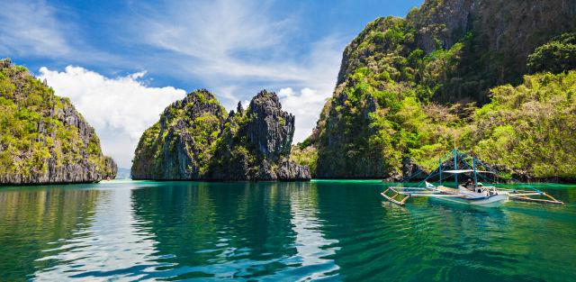 Une baie à Palawan, Philippines