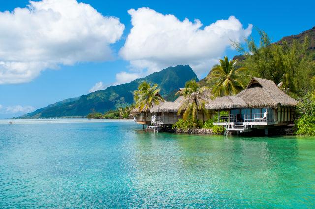 Bungalow direkt am Meer auf Tahiti, Französisch Polynesien