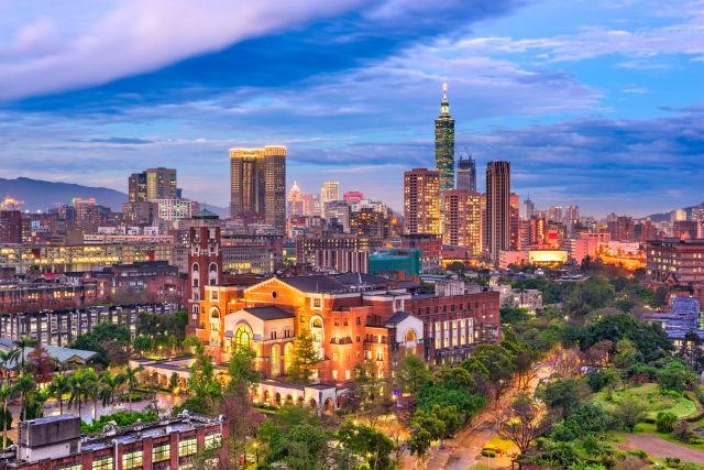 Luftpanorama von Taipei
