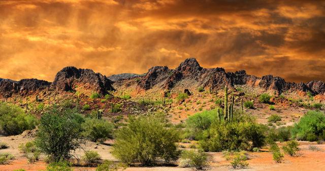 Albuquerque Mountains in New Mexico, USA