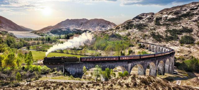 Glennfinnan Viaduct in Schottland
