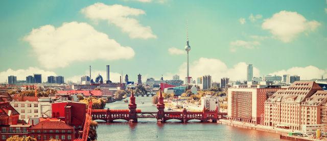 Vue sur les toits de Berlin, Allemagne