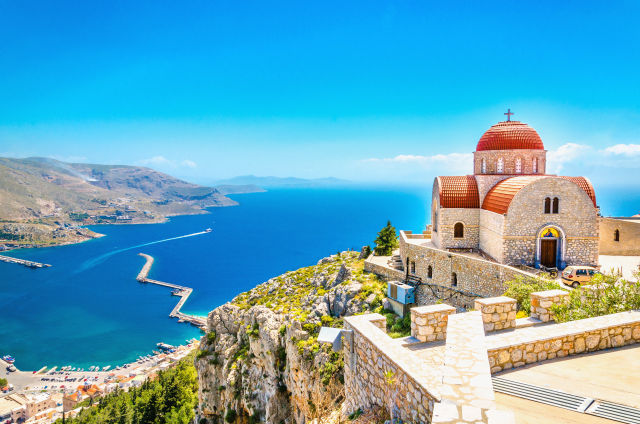 Insel Kos in Griechenland mit Blick auf Mittelmeer