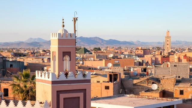 Vue panoramique sur Marrakech, Marco