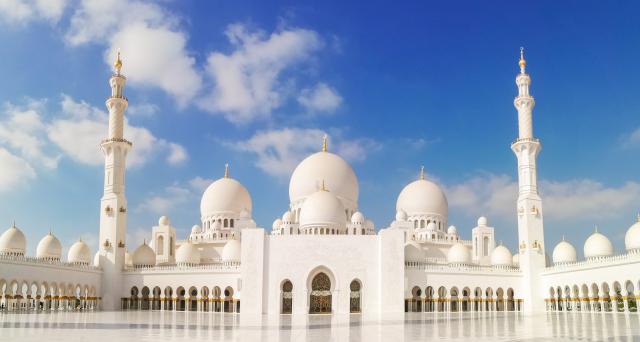 Abu Dhabi, architecture, asian temple