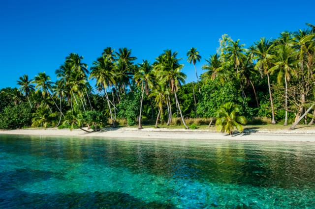Weißer Strand Nanuya Lailai Island, Blue Lagoon, Yasawa, Fiji