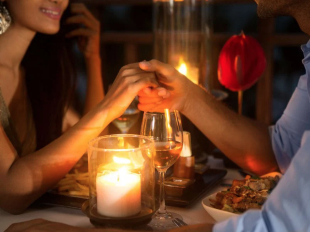 candle light dinner, hotel liebesglück, Romantic