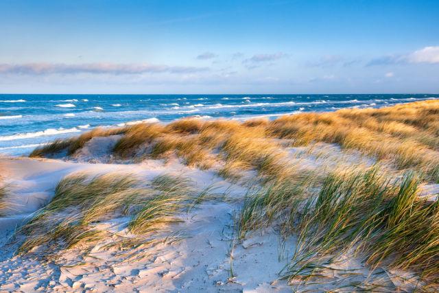 Strand an der Ostsee am frühen Morgen