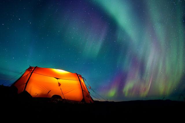 Lappland Polarlichter Camping Natur