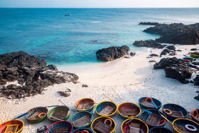 Strand von Ly Son, Insel in Vietnam