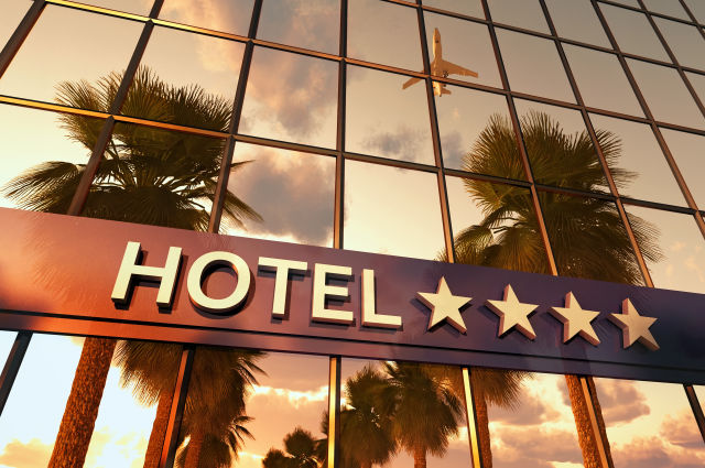 Hotel Sterne Flugzeug Palmen